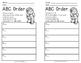 Santa's ABC Order Task Cards