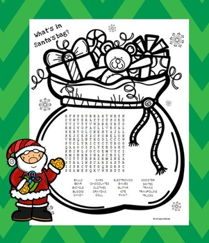 Santa's Bag Word Search