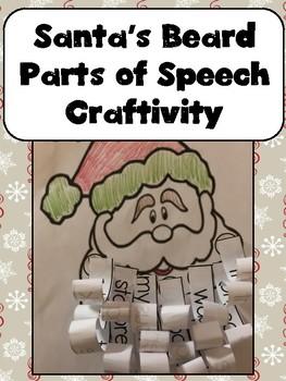 Santa's Beard Parts of Speech Craftivity FREEBIE