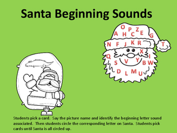 Santa's Beginning Sounds