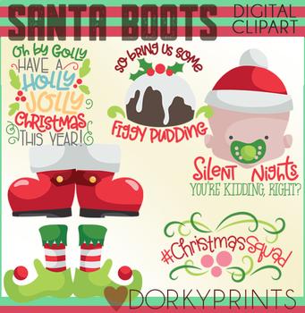 Santa's Boots Christmas Clipart