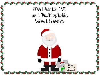 Santa S Cvc And Multisyllabic Cookies
