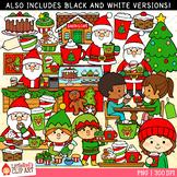 Santa's Christmas Cafe Christmas Clip Art