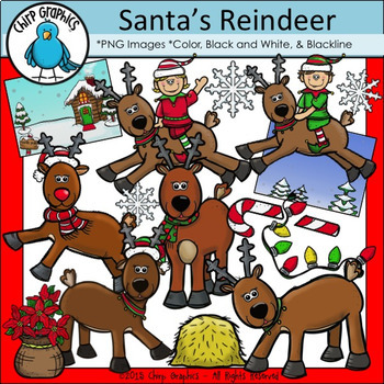 Santa's Christmas Clip Art Bundle - Chirp Graphics