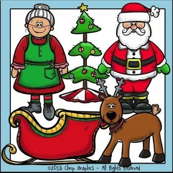 Santa's Christmas Clip Art Set - Chirp Graphics