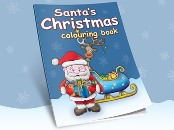 Santa's Christmas Coloring Book