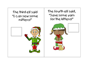 Santa's Christmas Elves Mini Book