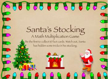 Christmas Multiplication Game: Santa's Stocking