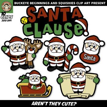 Santa Clause Clip Art {Squishies Clipart}