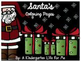 Santa's Coloring Pages