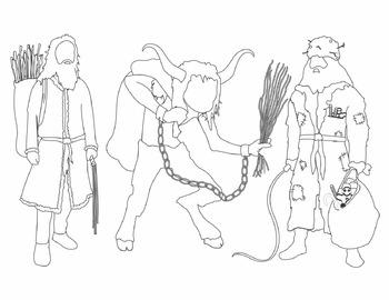 Santa's Companions Clip Art