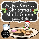 Christmas Math Game Number Recognition, Number Words, Addi