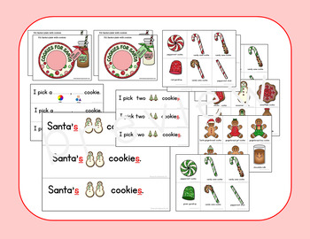Santa's Cookies Open Ended Game Plus Plurals, Possessives, Attributes