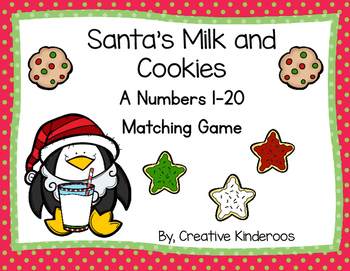 Santa's Cookies and Milk A Numbers 1-20 Matching Game