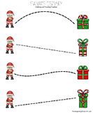 Santa's Delivery Cutting and Tracing Practice Page