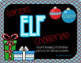 Santa's Elf Challenge - Great STAAR Review before Christmas