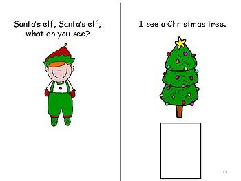 Santa's Elf, Santa's Elf, What Do You See? Interactive Book in Color & B/W