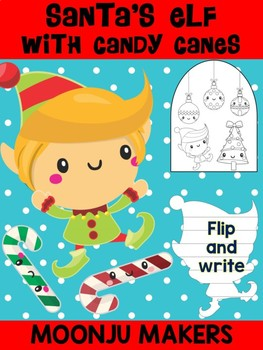 Santa's Elf with Candy Canes- Moonju Makers Activity, Craft, Writing, Christmas