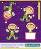 Santa's Elves Clipart, Christmas Clipart, Santa's Elves, Set 075