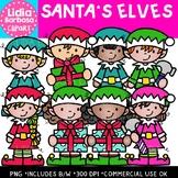Santa's Elves Clipart {Lidia Barbosa Clipart}