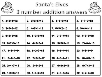 Santa's Elves Free Math Task Cards