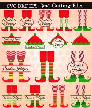Santa's Elves/Helpers -SVG DXF EPS Cutting File(081C)