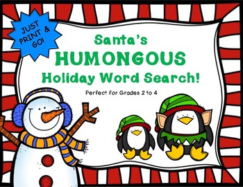 Santa's HUMONGOUS Holiday Word Search!