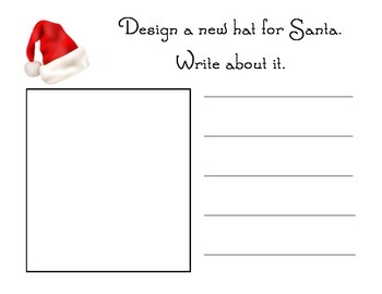 Santa's Hat Literacy Activities