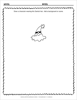 Santa's Hats Drawing Prompts