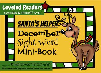 Santa's Helper Leveled Emergent Reader Sight Word {Mini-Book} (Christmas]