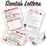 Santa's Letters. Dear Santa. Santa's Reply. Nice List Certificate.