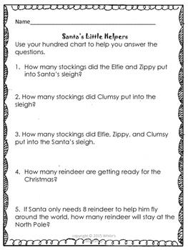 Santa's Little Helper Math Stories