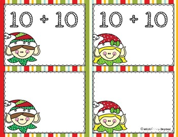 Santa's Little Helpers Addition Doubles Fact Fluency Card Game Pack