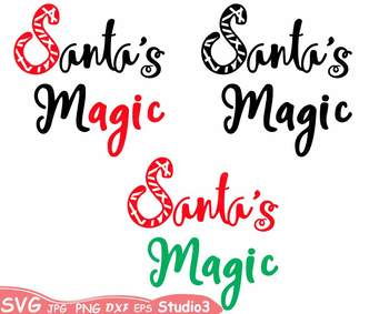 Santa's Magic Silhouette SVG clipart Cutting Files Studio3 Christmas -61sv