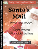 Santa's Mail: Write-The-Room Sight Word or Alphabet