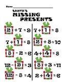 Santa's Missing Presents Math Worksheet