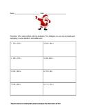 Santa's Mysteries 3 digit addition problems