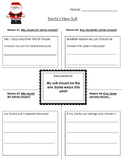 Santa's New Suit Persuasive Writing Graphic Organizer