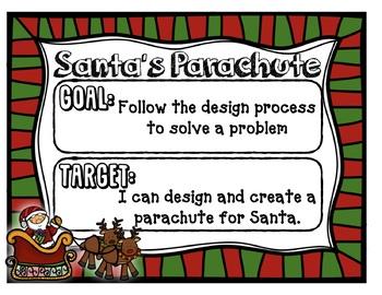 Santa's Parachute - Christmas STEAM STEM *Editable Word Document*