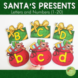 Santa's Present Letter and Number Cards