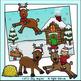 Santa's Reindeer Christmas Clip Art Set - Chirp Graphics