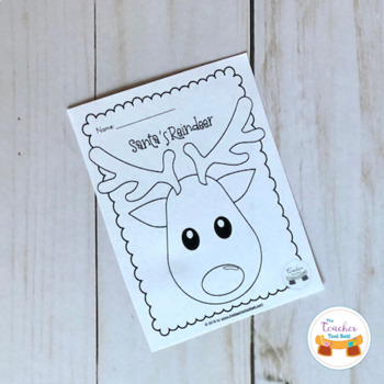 Santa\'s Reindeer Coloring Page by The Teacher Tool Belt | TpT