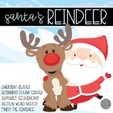 Santa's Reindeer Emergent Reader and Mini Literacy Set