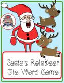Santa's Reindeer Site Word Game (1st Grade)