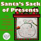 Santa's Sack of Presents for articulation & language therapy