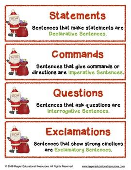 Christmas | Writing Center Activity | Literacy Centers | Sentence Sort
