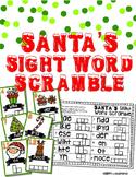 Santa's Sight Word Scramble: Holiday Sight Word Review Game & Handwriting Center