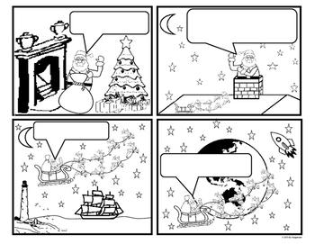 Christmas Themed Comic Writing - Santa's Sleigh Ride