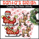 Santa's Sleigh and Reindeer Counting Activity