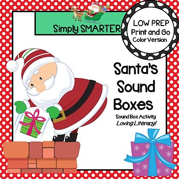 Santa's Sound Boxes:  LOW PREP Christmas Themed Sound Boxes Activity